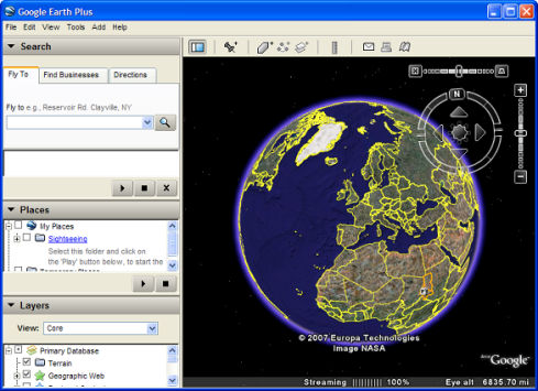 google earth map
